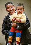 Man and baby, China