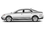 Driver side profile view of a 2012 Chevrolet Malibu 1LS .