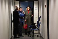 Delphine Bo&ecirc;l devant la 12e chambre du tribunal civil de Bruxelles pour une proc&eacute;dure en contestation de paternit&eacute; de Jacques Bo&euml;l, son p&egrave;re l&eacute;gal, et une proc&eacute;dure en reconnaissance de paternit&eacute; du roi Albert II de Belgique. Delphine Bo&euml;l dit &ecirc;tre la fille d'Albert II avec qui sa m&egrave;re, Sybille de Selys Longchamps, a eu une liaison entre 1966 et 1984. L'affaire a &eacute;t&eacute; prise en d&eacute;lib&eacute;r&eacute; et le jugement devrait &ecirc;tre rendu dans le d&eacute;lai l&eacute;gal d'un mois, selon les avocats.<br /> Belgian artist Delphine Boel pictured during the convocation of King Albert II, in the double case of Delphine Boel who contests the paternity of her father Jacques Boel and asks for the recognition of the paternity of King Albert II of Belgium, at the Brussels Trial Court of First Instance, Tuesday 21 February 2017, in Brussels. Boel intends to prove she is Albert II's biological <br /> Belgium, Brussels, 21 st February.<br /> Pic :  Sybille de Selys Longchamps, mother of Delphine Boel