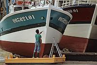 Europe/France/Poitou-Charentes/17/Charente Maritime/Ile d'Oléron/La Cotinière: Le port entretien   des chalutiers