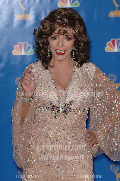 Actress JOAN COLLINS at the 2006 Primetime Emmy Awards at the Shrine Auditorium, Los Angeles..8 27, 2006 Los Angeles, CA.© 2006 Paul Smith / Featureflash