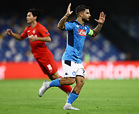 5th November 2019; Stadio San Paolo, Naples, Campania, Italy; UEFA Champions League Group Stage Football, Napoli versus Red Bull Salzburg; Lorenzo Insigne of Napoli goes close but misses his goal chance - Editorial Use