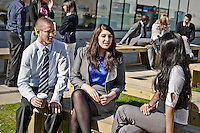 Photos for Kingston University  London international student brochures and prospectuses.??Preparing for the working world - .Outside the Nightingale Centre .Staff models: Tony Sims & Lesley Smith - Group and individual career orientated shots with props; engaging with lecturers outside LRC in a professional manner; walking together; talking in groups; on the telephone - brief cases, newspapers, note pads and pens..??Date Taken: 19/04/10??Location: Kingston Hill campus??Contact:??Commissioned by:  Kingston University - Emma Carlino?Emma Carlino.International Marketing Communications Manager.International Centre.Kingston University London.Swan Wing, River House.53-57 High Street.Kingston upon Thames.London.KT1 1LQ.UK.Tel: +44(0)20 8417 3006.Fax: +44(0)20 8417 3028.Email: e.carlino@kingston.ac.uk.Website: www.kingston.ac.uk/international
