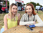 Sara O'Dwyer and Niamh Murphy at the Seafood Rocks festival in Clogherhead. Photo:Colin Bell/pressphotos.ie