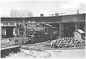 RGS #455 (ex D&amp;RGW K-27 #455) at Ridgway roundhouse.<br /> RGS  Ridgway, CO