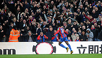 CELE - Crystal Palace's Bakary Sako celebrates scoring the opening goal <br /> <br /> Photographer Ashley Crowden/CameraSport<br /> <br /> The Premier League - Crystal Palace v Burnley - Saturday 13th January 2018 - Selhurst Park - London<br /> <br /> World Copyright &copy; 2018 CameraSport. All rights reserved. 43 Linden Ave. Countesthorpe. Leicester. England. LE8 5PG - Tel: +44 (0) 116 277 4147 - admin@camerasport.com - www.camerasport.com