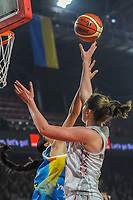 20191114 - CHARLEROI , BELGIUM : Belgian  Emma Meesseman pictured during a female basketball match between the Belgian national team Belgian Cats and Ukraine , a first qualification game for the Belgian Cats in Group G towards the Women's European Eurobasket Basketball Championships 2021 in Lyon, Paris and Valencia, on Thursday 14 th November in the Dome in Charleroi , Belgium . PHOTO SPORTPIX | STIJN AUDOOREN