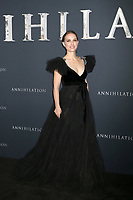 "LOS ANGELES - FEB 13:  Natalie Portman at the ""Annihilation"" Los Angeles Premiere at Village Theater on February 13, 2018 in Westwood, CA"
