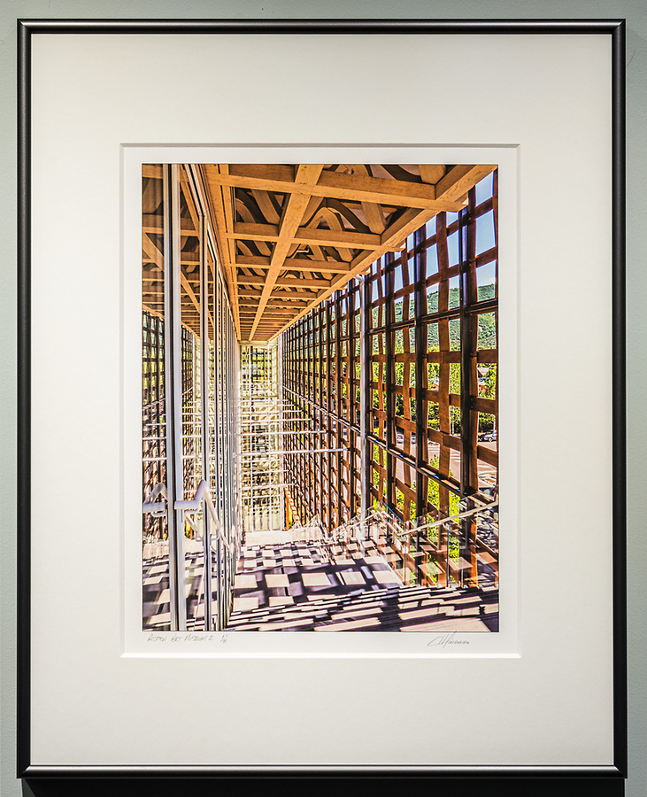 """Framed Size 20""""h x 16""""w, $335<br /> Graphite Nielsen 15 metal frame with 8-ply mat"""
