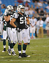 KENWIN CUMMINGS, of the New York Jets in action during the Jets game against the Carolina Panthers  at Bank of America Stadium in Charlotte, N.C.  on August 21, 2010.  The Jets beat the Panthters 9-3 in the second week of preseason games...