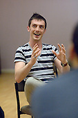 Delegate in a seminar by Loudmouth Theatre, at the Sex & Relationships Education Conference at the Institute of Education, London.