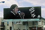 Barry White billboard on the Sunset Strip circa 1975