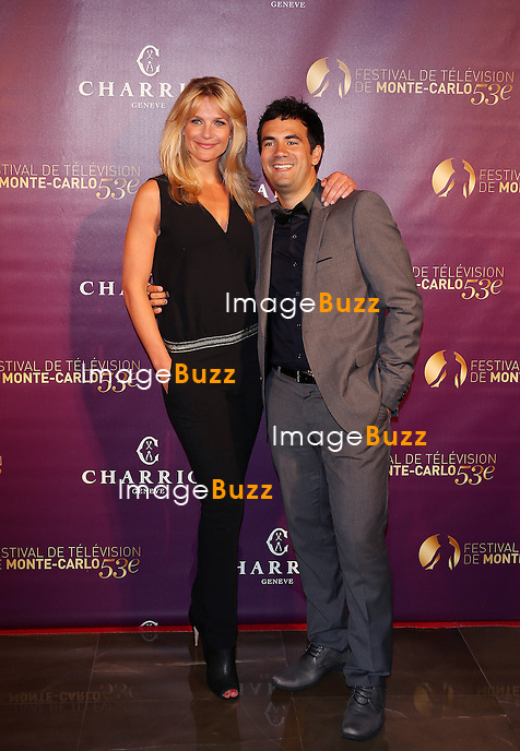 CPE/June 9, 2013-Sandrine Corman and Alex Goude attends 53rd Monte-Carlo TV Festival Opening Night Photocall at Monte-Carlo Bay hotel.