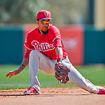 11 March 2016: Philadelphia Phillies infielder J.P. Crawford in action during a Spring Training pre-season game against the Atlanta Braves at Champion Stadium in the ESPN Wide World of Sports Complex in Kissimmee, Florida. The Phillies defeated the Braves 9-2 in Grapefruit League play. Mandatory Credit: Ed Wolfstein Photo *** RAW (NEF) Image File Available ***