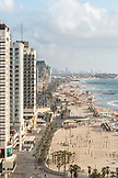 ISRAEL, Tel Aviv, a view of Tel Aviv's Beaches and promenade, Jaffa in the far background