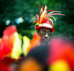 © Joel Goodman - 07973 332324 . 13/08/2016 . Manchester , UK . The annual Caribbean Carnival Parade through Hulme and Moss Side in South Manchester . Photo credit : Joel Goodman