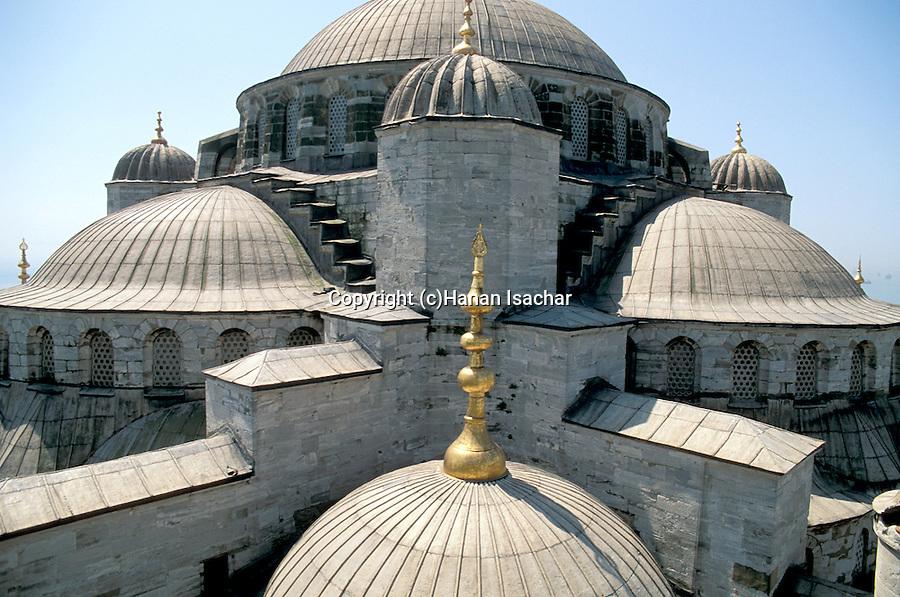 Turkey, Istanbul. Sultanahmet Imperial Mosque (Blue Mosque)