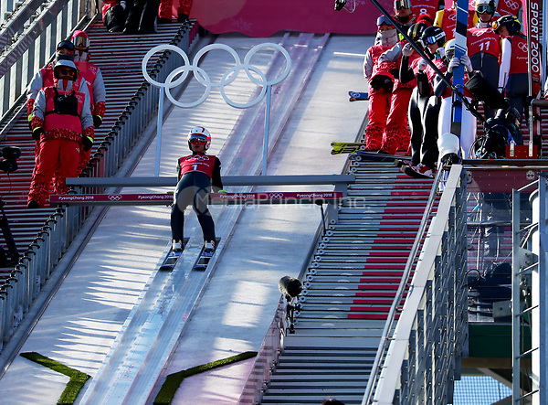 Ski jumper Seou Choi from South Korea in the Alpensia Ski Jumping Centre in Pyeongchang, South Korea, 07 February 2018. The Pyeongchang 2018 Winter Olympics take place between 09 and 25 February. Photo: Daniel Karmann/dpa /MediaPunch ***FOR USA ONLY***