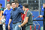 15.08.2018,  GER; FBL, Testspiel, Hamburger SV vs FC Bayern Muenchen ,DFL REGULATIONS PROHIBIT ANY USE OF PHOTOGRAPHS AS IMAGE SEQUENCES AND/OR QUASI-VIDEO, im Bild Trainer Nico Kovac (Bayern) begruesst Trainer Christian Titz (Hamburg)  Foto © nordphoto / Witke *** Local Caption ***