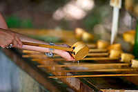 Purification fountain at Japanese temple