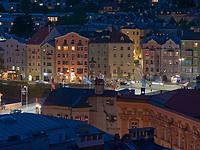 historische Fassaden Mariahilf am Inn, Innsbruck, Tirol, &Ouml;sterreich, Europa<br /> historical facades of Mariahilf,  Innsbruck, Tyrol, Austria, Europe