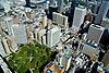 Aerial view of Washington square Park,  Philadelphia, Pennsylvania