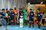 (L to R) <br /> Toru Sagara, <br /> Yuichi Nishimura (Referee), <br /> Hassan Kamranifar, <br /> Toshiyuki Nagi, <br /> JUNE 12, 2014 - Football /Soccer : <br /> 2014 FIFA World Cup Brazil <br /> Group Match -Group A- <br /> between Brazil 3-1 Croatia <br /> at Arena de Sao Paulo, Sao Paulo, Brazil. <br /> (Photo by YUTAKA/AFLO SPORT)