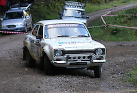 Julian Reynolds / Patrick Walsh at Junction 6, on Special Stage 1 Craigvinean in the Colin McRae Forest Stages Rally 2012, Round 8 of the RAC MSA Scotish Rally Championship which was organised by Coltness Car Club and based in Aberfeldy on 5.10.12.