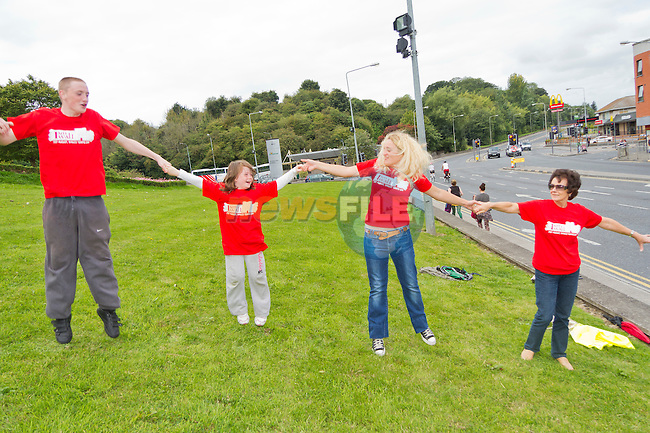Jumping for joy as the canon blasts..Picture: Shane Maguire / www.newsfile.ie.