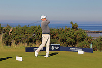 Mike Fascitelli (AM) on the 8th tee during Round 1 of the 2015 Alfred Dunhill Links Championship at Kingsbarns in Scotland on 1/10/15.<br /> Picture: Thos Caffrey | Golffile