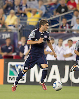 New England Revolution midfielder Chris Tierney (8) at midfield. In a Major League Soccer (MLS) match, Chivas USA defeated the New England Revolution, 3-2, at Gillette Stadium on August 6, 2011.