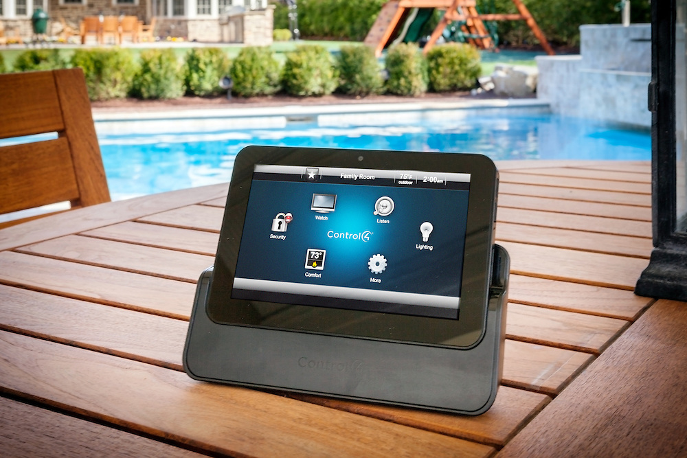 Control your entire home from the comfort of your outdoor entertainment area.