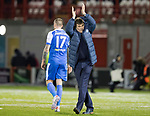 Hamilton Accies v St Johnstone&hellip;09.12.17&hellip;  New Douglas Park&hellip;  SPFL<br />Tommy Wright applauds the travelling saints fans at full time<br />Picture by Graeme Hart. <br />Copyright Perthshire Picture Agency<br />Tel: 01738 623350  Mobile: 07990 594431