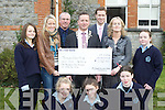 Castleisland Presentation students presents a cheque of EUR1132.00 to the Tralee Lions Club at their school on Thursday front row l-r: Aisling Kirwin, Diana O'Hara, Jane Lynch. Back row: Katie Sugrue, Joanne Casey, Mark Bennett, Roger Harty, Pat Crean Monica Murphy and Michelle Beasley.