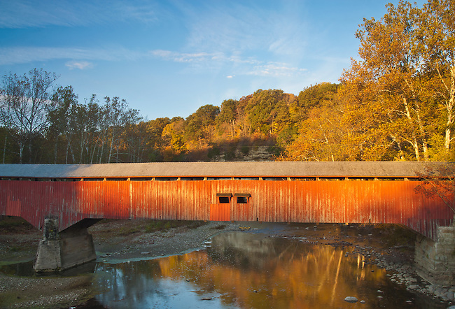 Deers Mill Covered Bridge is in Shades State Park, Montgomery County, Indiana