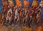 Tartar on the Move<br /> 30x40 Acrylic on Canvas<br /> $22,000.