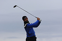 Lee Slattery (ENG) on the 16th tee during round 4 of the Alfred Dunhill Links Championship at Old Course St. Andrew's, Fife, Scotland. 07/10/2018.<br /> Picture Thos Caffrey / Golffile.ie<br /> <br /> All photo usage must carry mandatory copyright credit (&copy; Golffile | Thos Caffrey)