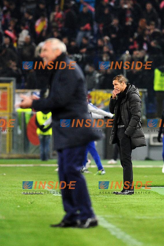 Diego Simeone, allenatore dell'Atletico Madrid..Roma, 16/02/2012 Stadio Olimpico.Football Calcio 2011/2012 .Lazio vs Atletico Madrid 1-3.Europa League.Foto Insidefoto Antonietta Baldassarre