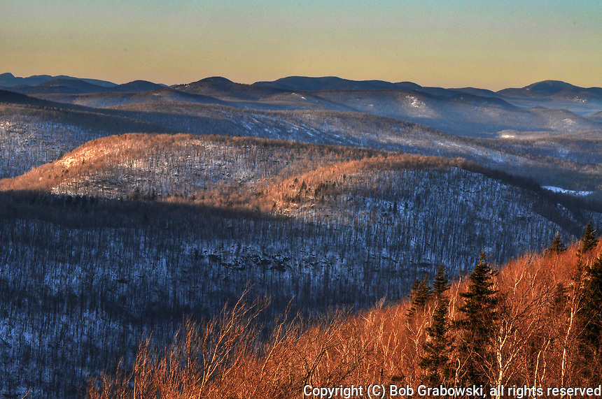 Sunset From Hadley Mt In The Adirondack Mountains Of New York State