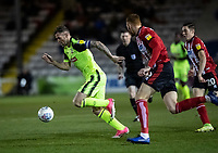 Bolton Wanderers' Daryl Murphy (left) breaks<br /> <br /> Photographer Andrew Kearns/CameraSport<br /> <br /> The EFL Sky Bet League One - Lincoln City v Bolton Wanderers - Tuesday 14th January 2020  - LNER Stadium - Lincoln<br /> <br /> World Copyright © 2020 CameraSport. All rights reserved. 43 Linden Ave. Countesthorpe. Leicester. England. LE8 5PG - Tel: +44 (0) 116 277 4147 - admin@camerasport.com - www.camerasport.com