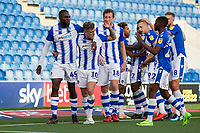 The Colchester players celebrate with opening goal scorer Sammie Szmodics during Colchester United vs Crawley Town, Sky Bet EFL League 2 Football at the JobServe Community Stadium on 13th October 2018