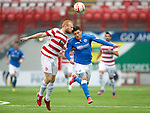 Hamilton Accies v St Johnstone...16.08.14  SPFL<br /> Ziggy Gordon and Michael O'Halloran<br /> Picture by Graeme Hart.<br /> Copyright Perthshire Picture Agency<br /> Tel: 01738 623350  Mobile: 07990 594431