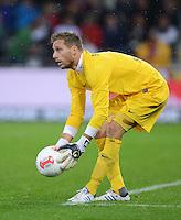 FUSSBALL   1. BUNDESLIGA   SAISON 2012/2013  5. SPIELTAG  26.09.2012 SC Freiburg - SV Werder Bremen Torwart Sebastian Mielitz (SV Werder Bremen) mit Ball