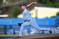 Dunedin Blue Jays pitcher Matt Dermody (44) delivers a pitch during a game against the Bradenton Marauders on April 14, 2015 at Florida Auto Exchange Stadium in Dunedin, Florida.  Bradenton defeated Dunedin 7-1.  (Mike Janes/Four Seam Images)
