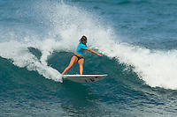 SUNSET BEACH, Oahu/Hawaii (Thursday, December 2, 2010) - Alana Blanchard (HAW).   Brazilian Raoni Monteiro (BRA) became the first Brazilian in 20 years to take out the Men's division of the O'Neill World Cup of Surfing today. Julian Wilson (AUS) who won the Rookie of the Triple Crown and is leading the Triple Crown ratings finished in 2nd with Granger Larsen (HAW) in 3rd and  Josh Kerr (AUS) in 4th .Contest  Wildcard Tyler Wright (AUS), 16,  won the O'Neill Women's World Cup of Surfing, topping Sunset Beach local Coco Ho (HAW), 19, reigning four-time ASP Women's World Champion Stephanie Gilmore (AUS), 22, and ASP Women's World Tour No. 2 Sally Fitzgibbons (AUS), 19, in two-to-four foot (1 metre) surf at Sunset Beach. Wright was also named Women's Rookie of the Triple Crown..Photo: joliphotos.com