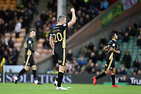 Steve Morison of Millwall celebrates getting the first goal of the game during Norwich City vs Millwall, Sky Bet EFL Championship Football at Carrow Road on 1st January 2018