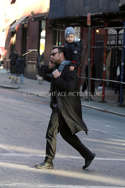 WWW.ACEPIXS.COM . . . . .  ....EXCLUSIVE - ALL ROUNDER....February 4 2010, New York City....Actor Liev Schreiber takes his son Alexander for a walk around their Noho neighborhood on February 4 2010 in New York City....Please byline: PHILIP VAUGHAN - ACE PICTURES.... *** ***..Ace Pictures, Inc:  ..Philip Vaughan (212) 243-8787 or (646) 679 0430..e-mail: info@acepixs.com..web: http://www.acepixs.com