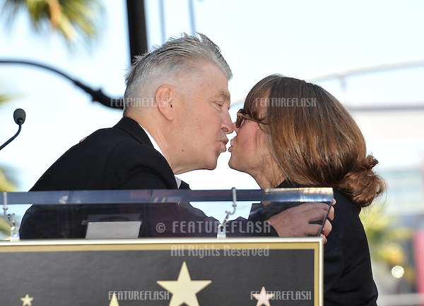 Sissy Spacek with director David Lynch on Hollywood Boulevard where she was honored with the 2,443rd star on the Hollywood Walk of Fame..August 1, 2011  Los Angeles, CA.Picture: Paul Smith / Featureflash
