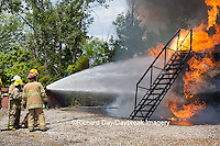 63818-02512 Firefighters at oilfield tank training, Marion Co., IL