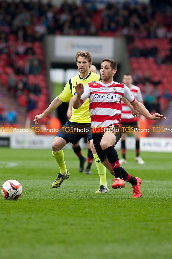 Dean Furman of Doncaster Rovers<br />  - Doncaster Rovers vs Birmingham City - Sky Bet Championship Football at the Keepmoat Stadium, Doncaster - 05/04/14 - MANDATORY CREDIT: Mark Hodsman/TGSPHOTO - Self billing applies where appropriate - 0845 094 6026 - contact@tgsphoto.co.uk - NO UNPAID USE
